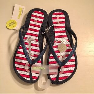 3099905bb2b442 Shoes - Capelli Patriotic Anchor Flip Flops